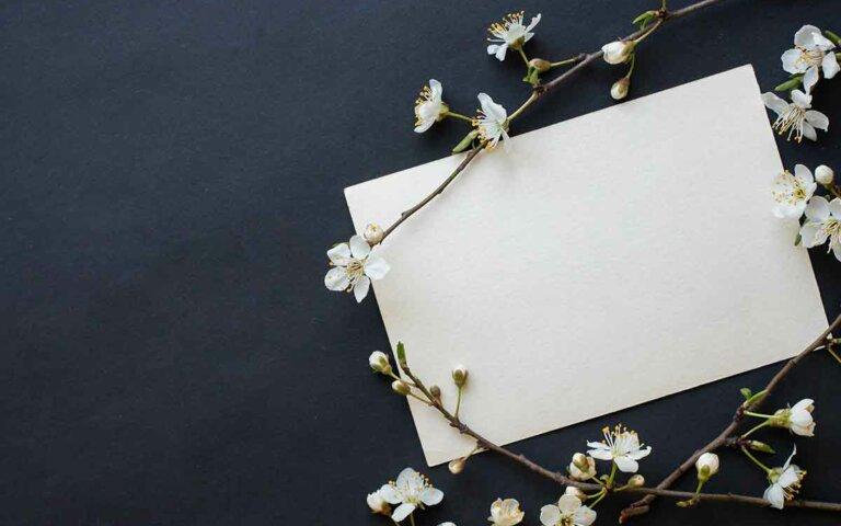 Schöne Trauersprüche für die Trauerkarte & zur Anteilnahme
