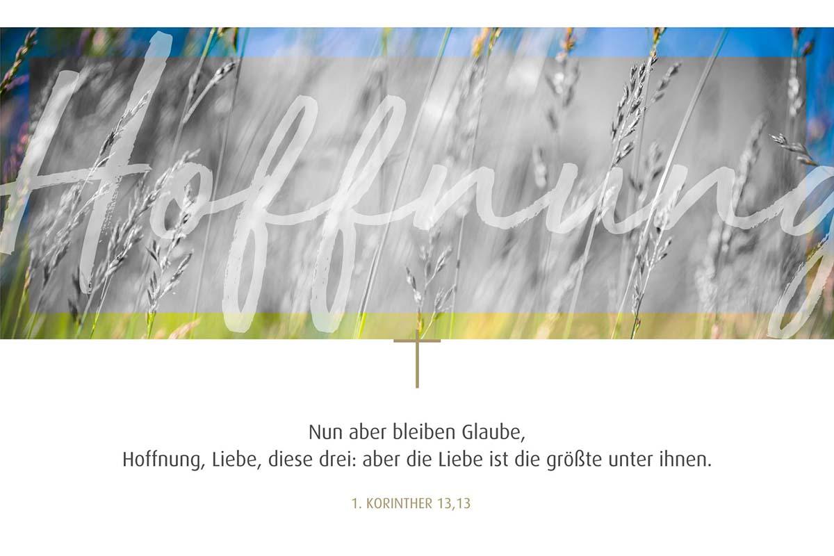 Trauerbild Glaube, Hoffnung, Liebe