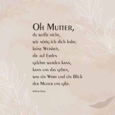 Trauerbild Oh Mutter